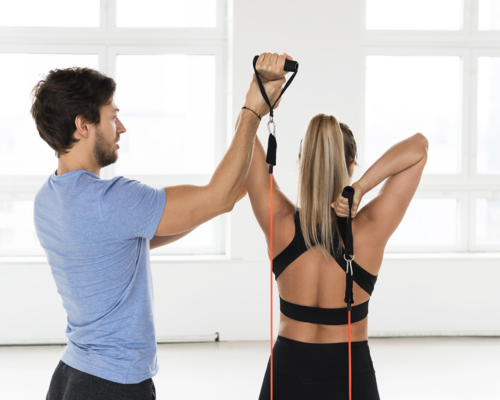 Tricep Extension - Resistance Bands